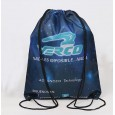 100% Polyester Draw String Bag with Heat Transfer Imprint at 1 Side