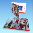 Christmas Video Greeting Cards with LCD Screen and Full Color Imprint