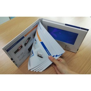 Custom Designed Printing Video Book with LCD Screen and Buttons