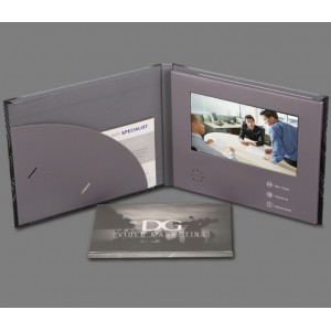 7 inch Video Folder with Custom Designed Imprint and Buttons